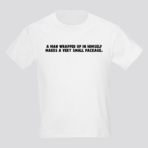 A man wrapped up in himself m Kids Light T-Shirt