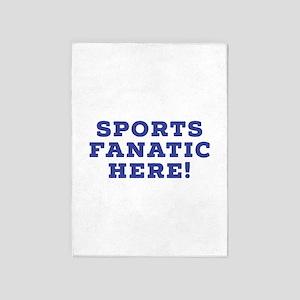 Sports Fanatic 5'x7'Area Rug