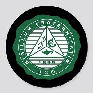 Delta Sigma Phi Fraternity Round Car Magnet