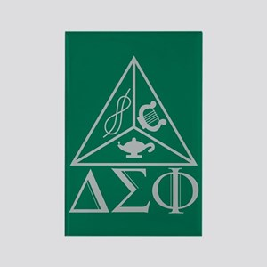 Delta Sigma Phi Rectangle Magnet