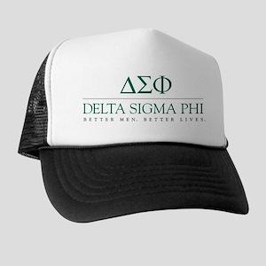 Delta Sigma Phi Letters Trucker Hat