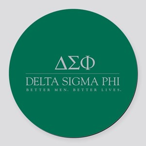 Delta Sigma Phi Letters Round Car Magnet
