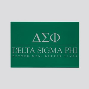 Delta Sigma Phi Letters Rectangle Magnet