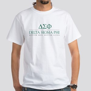 Delta Sigma Phi Letters White T-Shirt