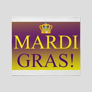 Mardi Gras Royal Colors Throw Blanket