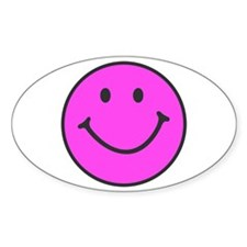 Happy Smiley Face | Oval Sticker