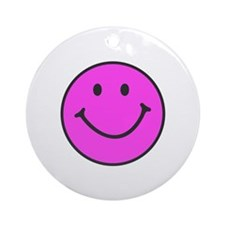 Happy Smiley Face | Ornament (Round)