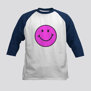 Happy Smiley Face | Kids Baseball Jersey