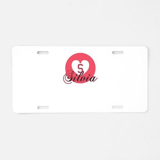 silvia Aluminum License Plate