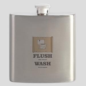 toilet flushed hands washed Flask