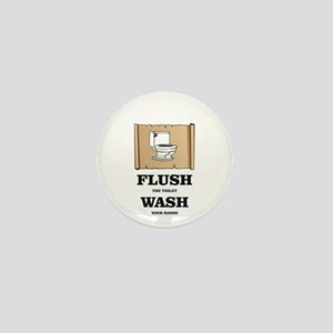 toilet flushed hands washed Mini Button