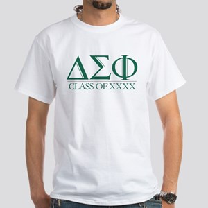 Delta Sigma Phi Class of Personalize White T-Shirt