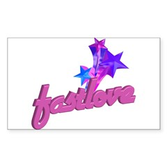 Fast Love   Rectangle Decal