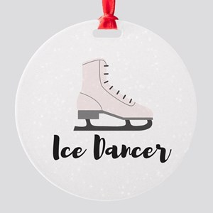Ice Dancer Round Ornament