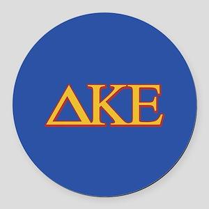 DKE Letters Round Car Magnet