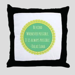 Dalai Lama Quote Throw Pillow