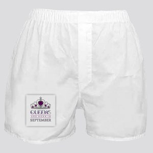Queens are Born in September Boxer Shorts