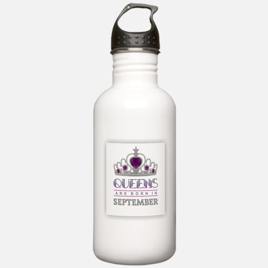 Queens are Born in Sep Water Bottle