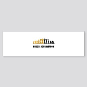 Chess Game Play Bumper Sticker