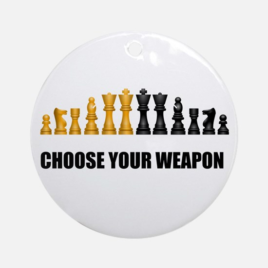 Chess Game Play Round Ornament