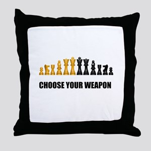 Chess Game Play Throw Pillow