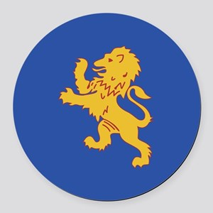 DKE Lion Round Car Magnet