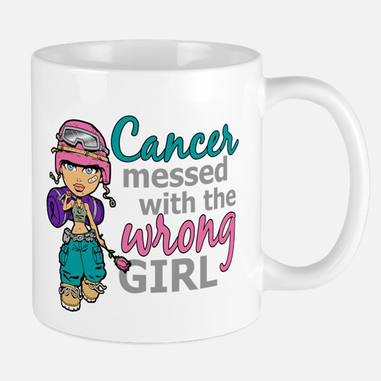 Combat Girl Thyroid Cancer Mugs
