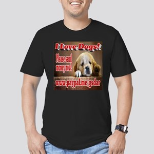 I Love Dogs! Men's Fitted T-Shirt (dark)