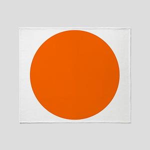 orange circle Throw Blanket