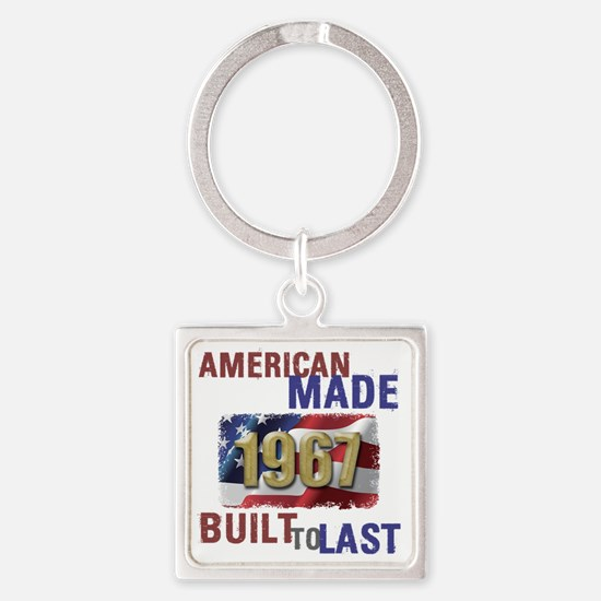 Cool Made usa Square Keychain