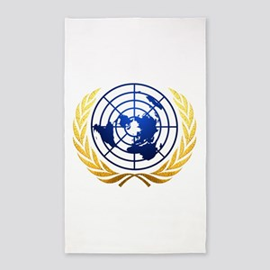 Flat Earth Gold Map Area Rug