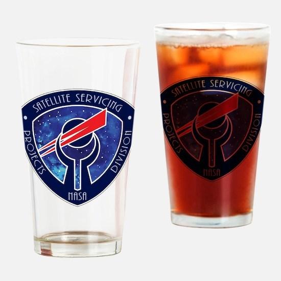 Sat Servicing Logo Drinking Glass