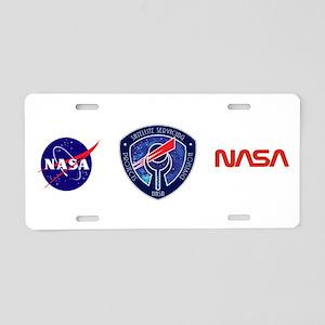Sat Servicing Logo Aluminum License Plate
