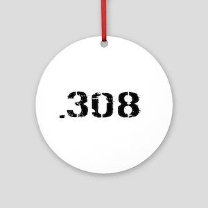 Ammunition: .308 (White) Round Ornament