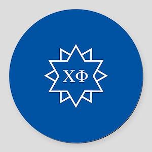 Chi Phi Symbol Dark Apparel Round Car Magnet