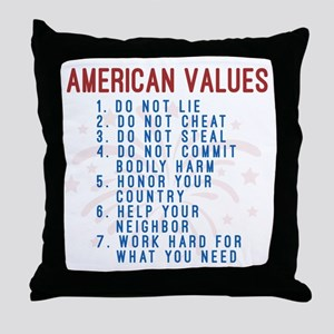 American Values Throw Pillow