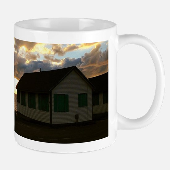 Days Cottages at Sunset 2 Mugs
