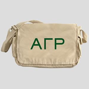 Alpha Gamma Rho Letters Messenger Bag