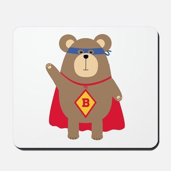 Flying Hero Bear Mousepad