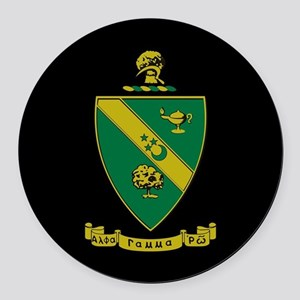 Alpha Gamma Rho Emblem Round Car Magnet