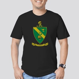 Alpha Gamma Rho Emblem Men's Fitted T-Shirt (dark)