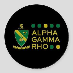 Alpha Gamma Rho Round Car Magnet