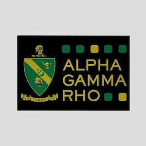 Alpha Gamma Rho Rectangle Magnet