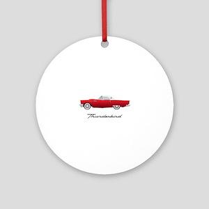 1957 Thunderbird Round Ornament