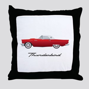 1957 Thunderbird Throw Pillow