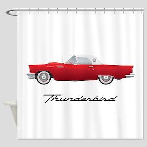 1957 Thunderbird Shower Curtain