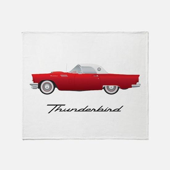1957 Thunderbird Throw Blanket