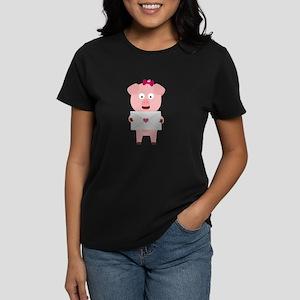 Female Pig with Loveletter T-Shirt