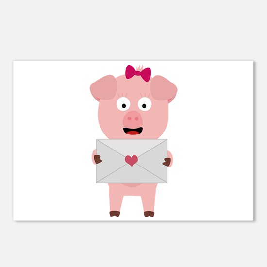 Female Pig with Lovelette Postcards (Package of 8)