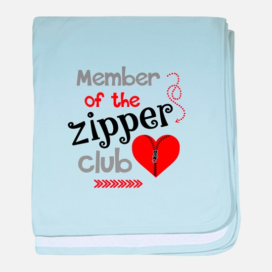 Member of the Zipper Club baby blanket